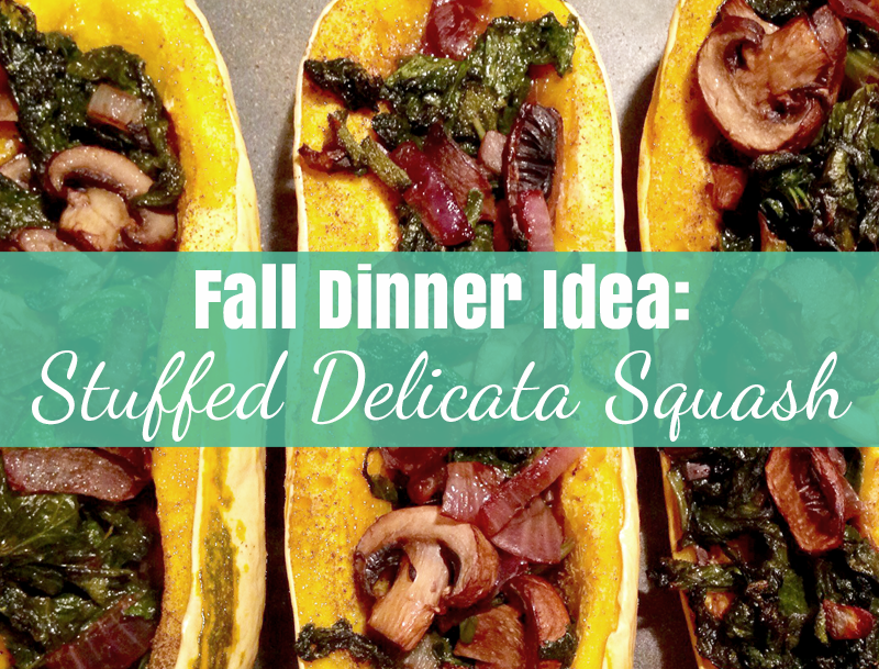 Fall Dinner Idea: Stuffed Delicata Squash