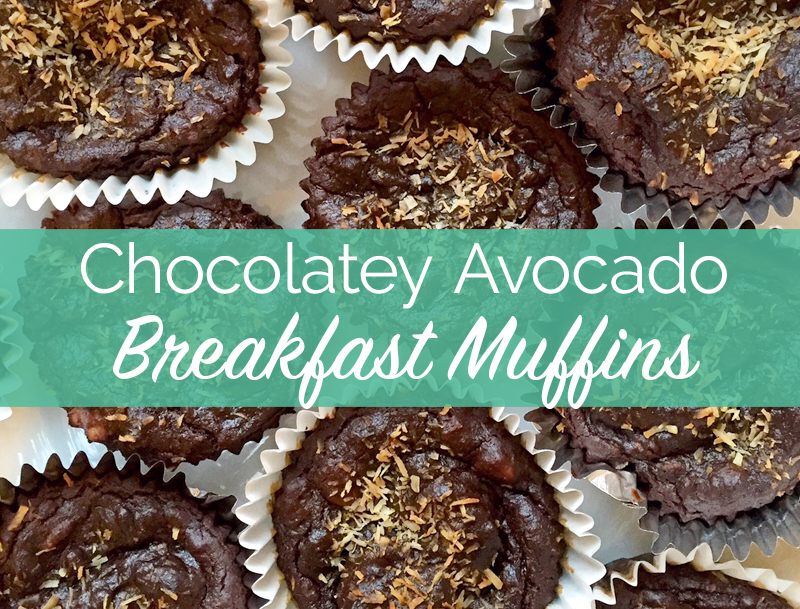 Chocolatey Avocado Breakfast Muffins