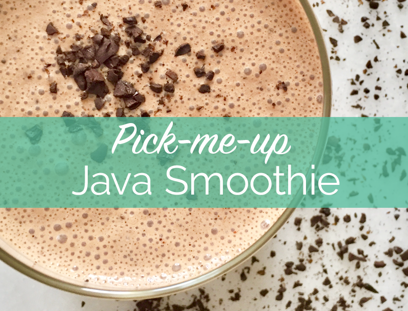 Pick-Me-Up Java Smoothie