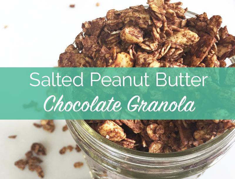 peanut butter recipes, peanut butter and chocolate recipes, chocolate granola recipe, gluten-free granola recipe, gluten free breakfasts, pb2 recipes, sugar free breakfast ideas, homemade granola, healthy granola recipe
